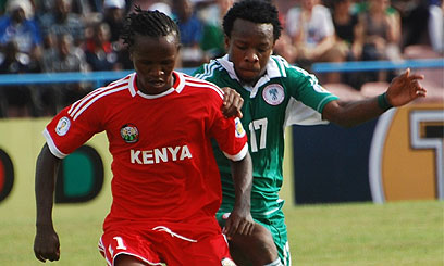 Kahata Dribbles Ball Past Nigerian in Calabar ! He scored through a free kick at the match.