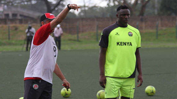 Wanyama Getting instructions from coach Amrouche
