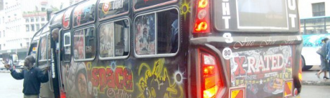 Matatu on the streets of Nairobi