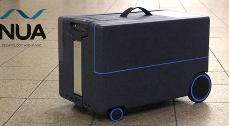 This Suitcase follows you around like a puppy!