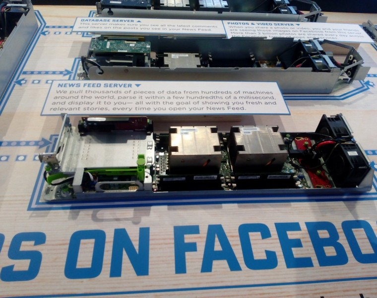4: At the bottom is the news feed server itself. As the sign states, this server pulls in thousands of pieces of data and parses it within a few hundredths of a millisecond.