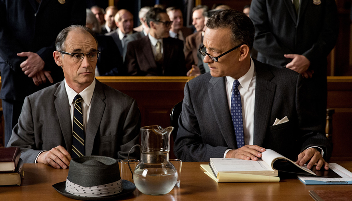 Mark Rylance and Tom Hanks in Bridge of Spies.