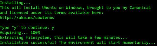 ubuntu-on-windows-10-installation