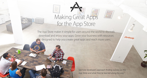 Apple's developer portal has new sections on building great apps that make money