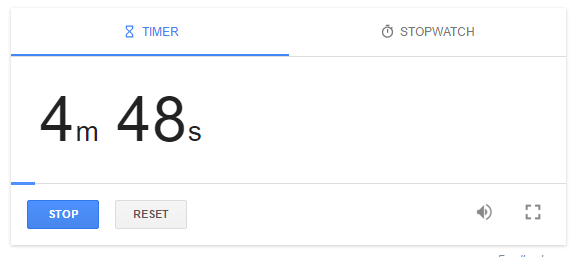 Set your timer on google like a boss