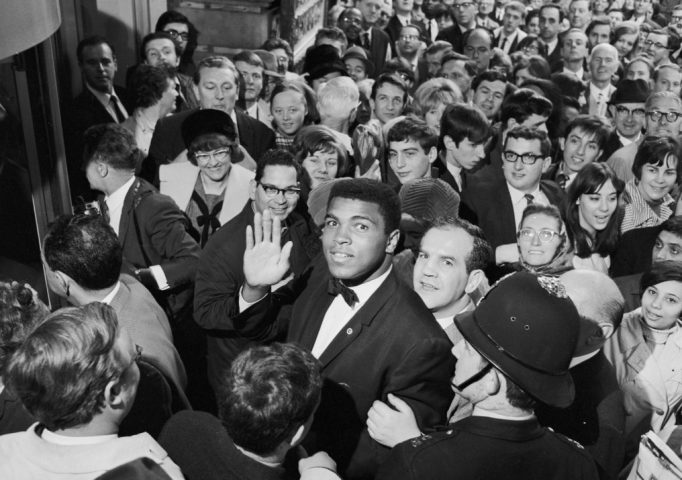 Cassius Clay at his west end hotel in London in 1966 before his fight with Henry Cooper. B. Potter/Express/Getty Images