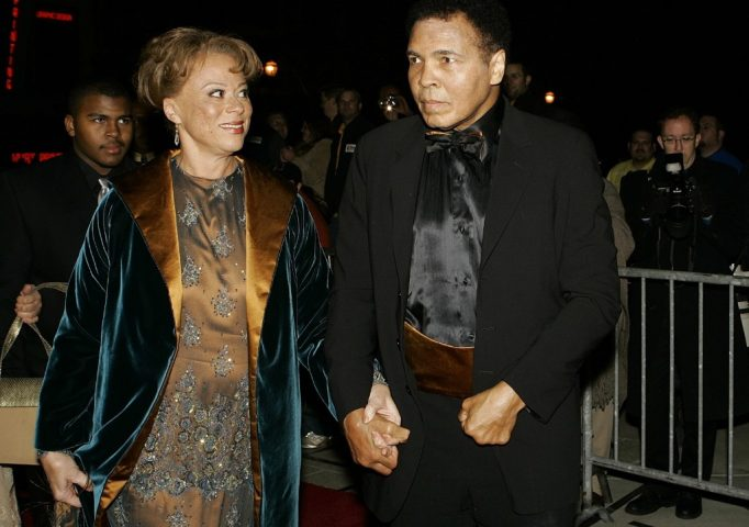 Muhammad Ali and his wife Lonnie enter the Kentucky Center for the Arts before the grand opening gala celebration for the Muhammad Ali Center, Nov. 19, 2005, in Louisville, Ky. AP Photo/Ed Reinke