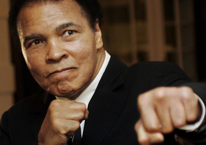 Muhammad Ali during the Crystal Award ceremony at the World Economic Forum in Davos, Switzerland, Jan. 28, 2006. REUTERS/Andreas Meier