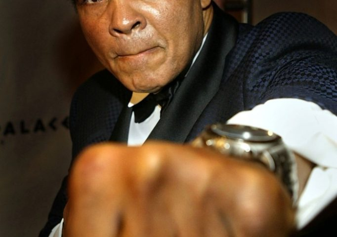 "Muhammad Ali arrives at ""Celebrity Fight Night X"", a charity event to raise money for the Muhammad Ali Parkinson Research Center at Barrow Neurological Institute, March 27, 2004 in Phoenix. Carlo Allegri/Getty Images"