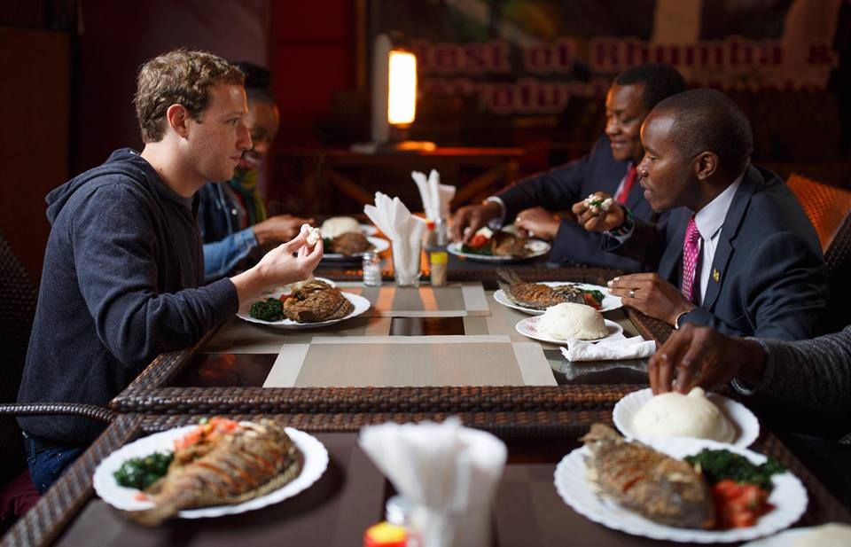 Mark Zuckerberg in Nairobi
